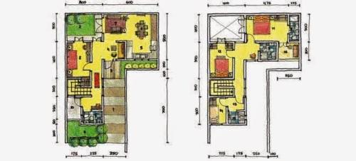 Rumah  Minimalis Leter  L  RumahMinimalisManja