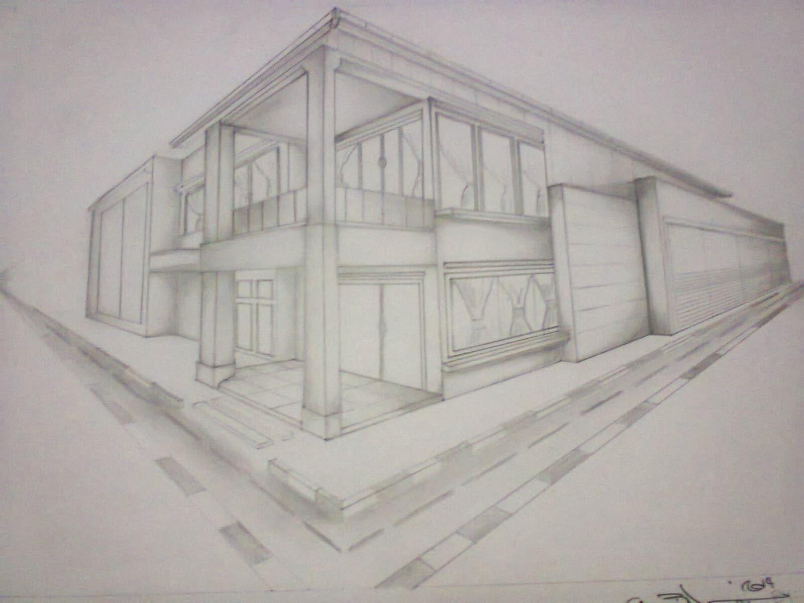 Gambar-Gambar Perspektif & Perspektif Eksterior 2 Titik Hilang \u2013 RumahMinimalisManja