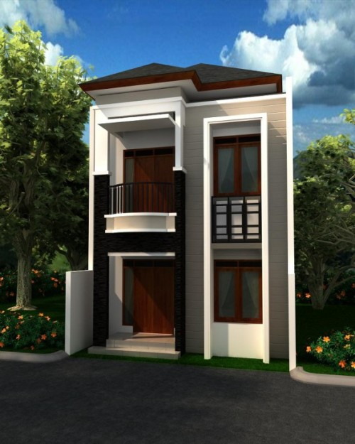 Desain Rumah Minimalis 2 Lantai Ukuran Kecil